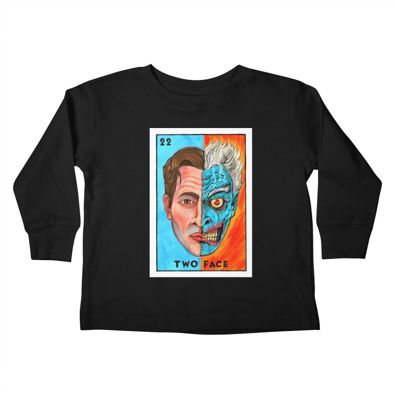 Two Face Kids Toddler Longsleeve T-Shirt by Miguel Valenzuela