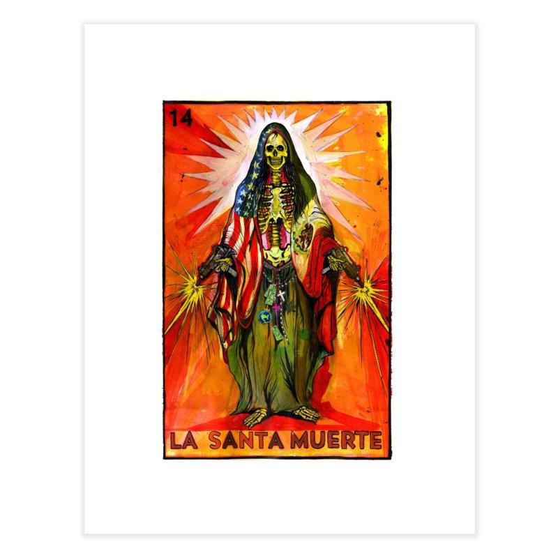 La Santa Muerte Home Fine Art Print by Miguel Valenzuela