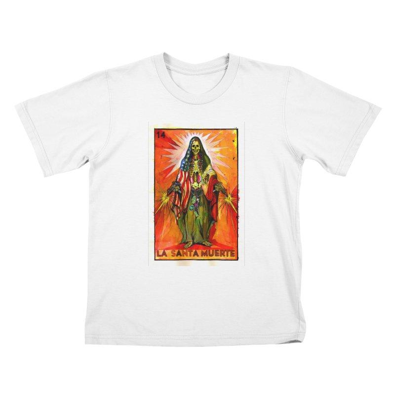 La Santa Muerte Kids T-Shirt by Miguel Valenzuela