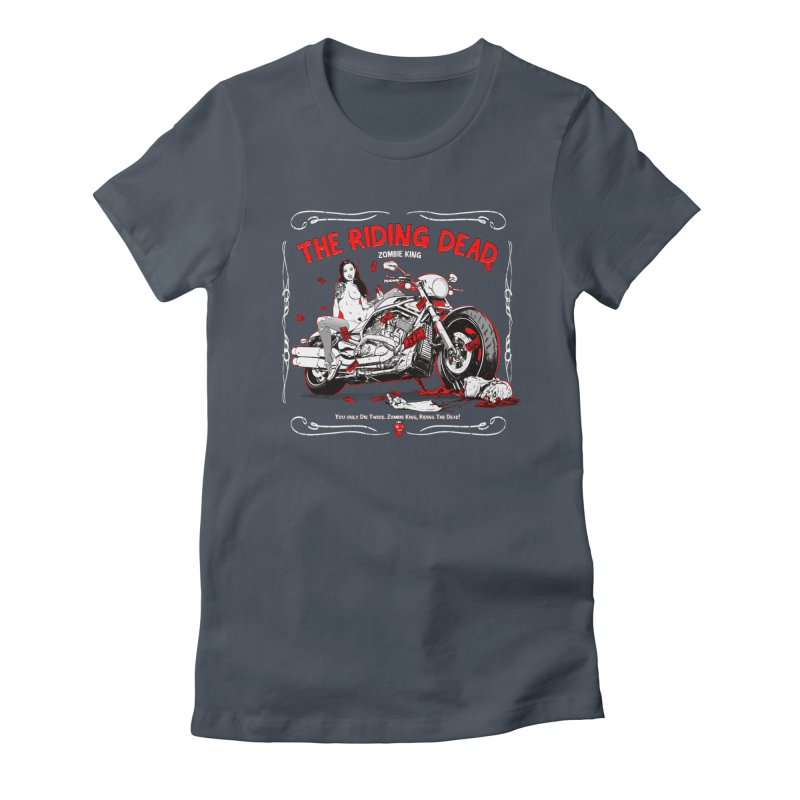 The Riding Dead Women's Fitted T-Shirt by Mika's Artist Shop