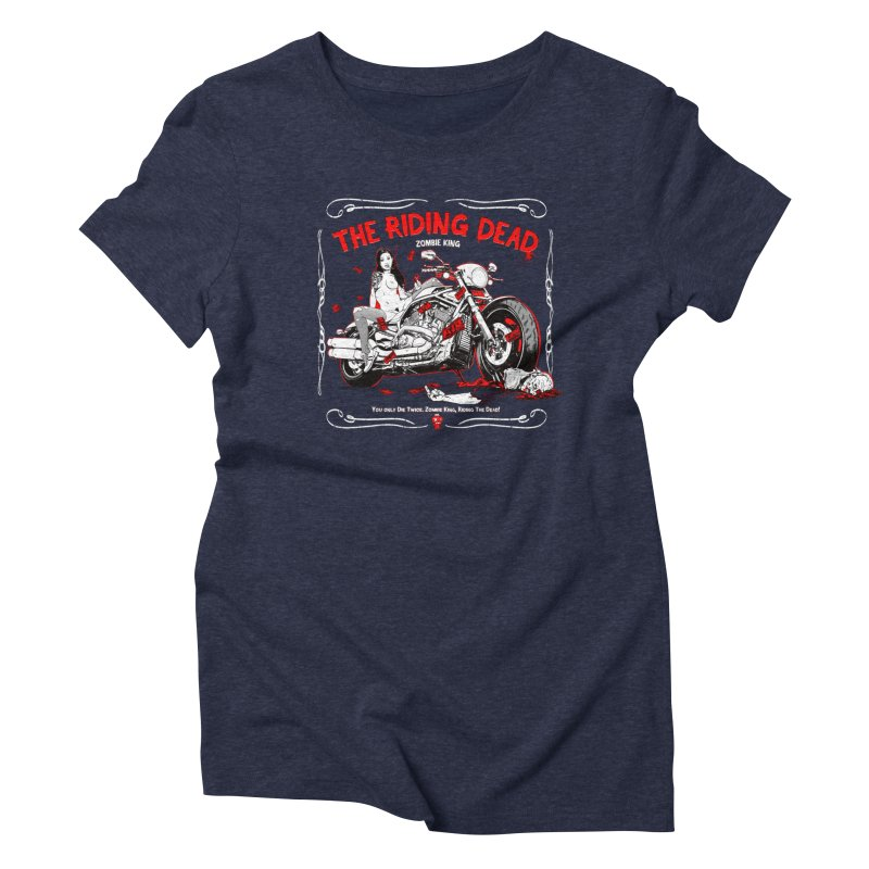 The Riding Dead Women's Triblend T-Shirt by Mika's Artist Shop