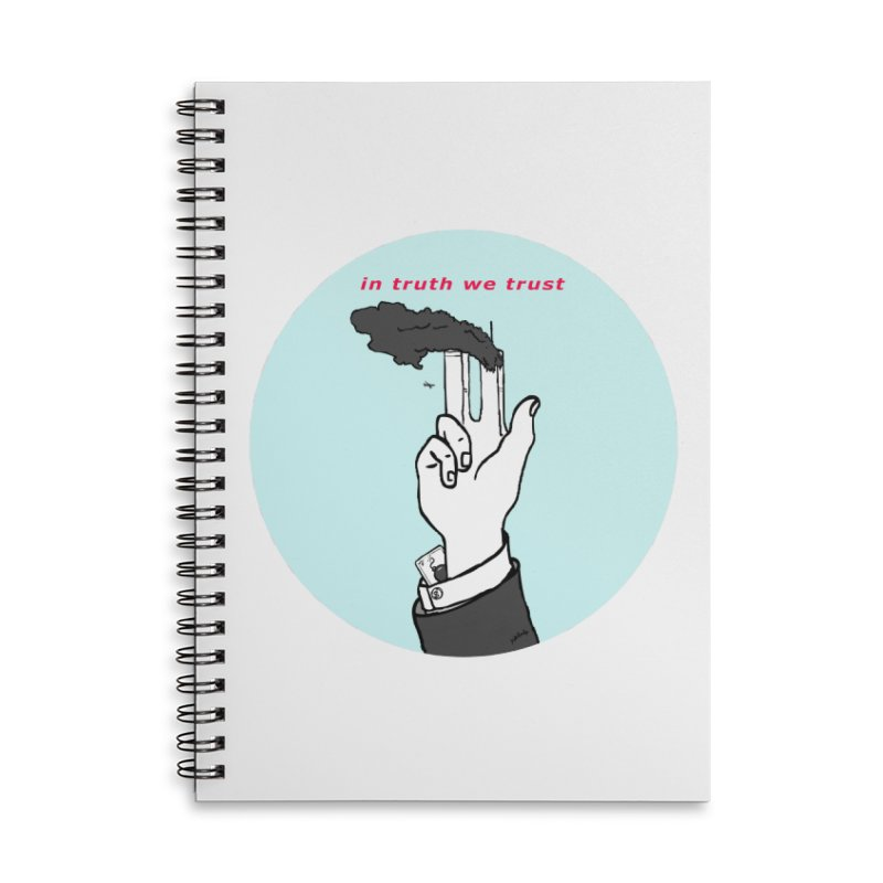 in truth we trust Accessories Lined Spiral Notebook by mikbulp's Artist Shop