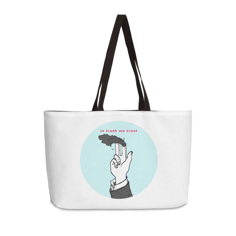 in truth we trust Accessories Weekender Bag Bag by mikbulp's Artist Shop