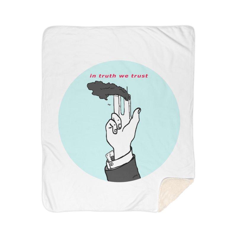 in truth we trust Home Sherpa Blanket Blanket by mikbulp's Artist Shop