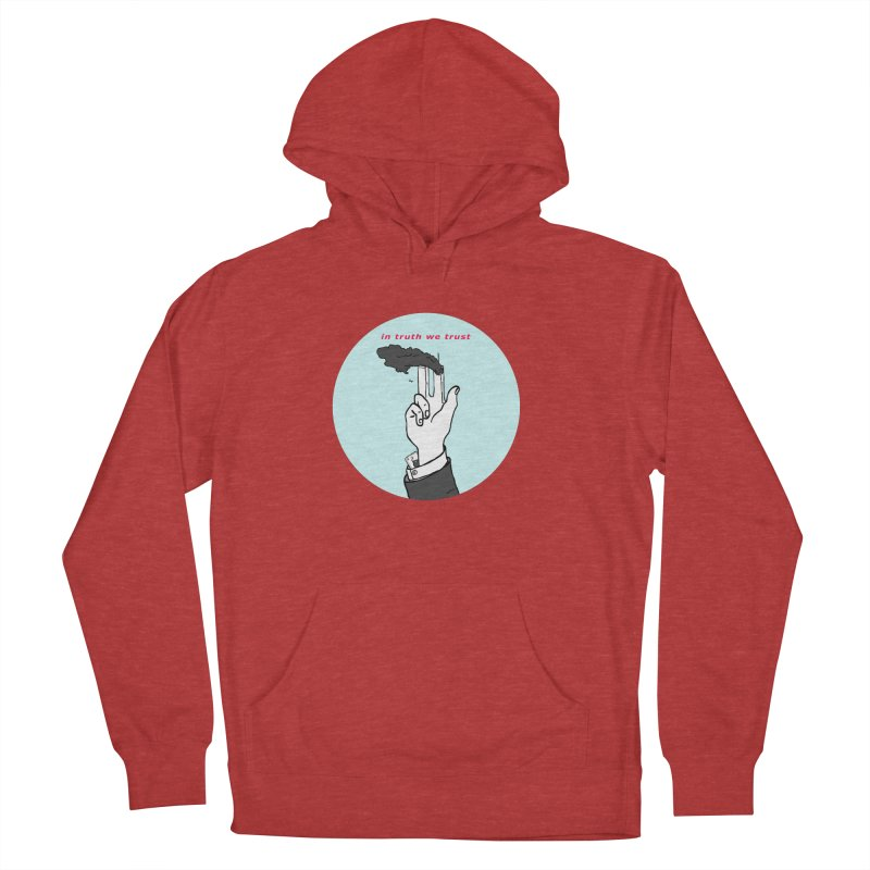 in truth we trust Men's French Terry Pullover Hoody by mikbulp's Artist Shop