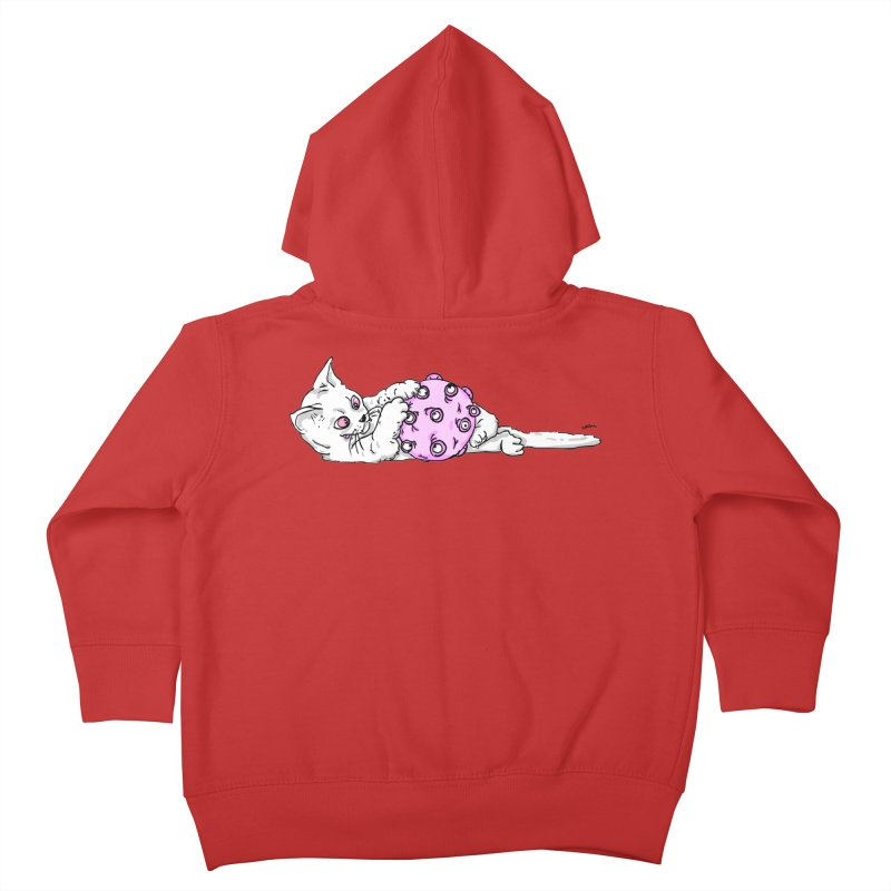 cat vs corona Kids Toddler Zip-Up Hoody by mikbulp's Artist Shop
