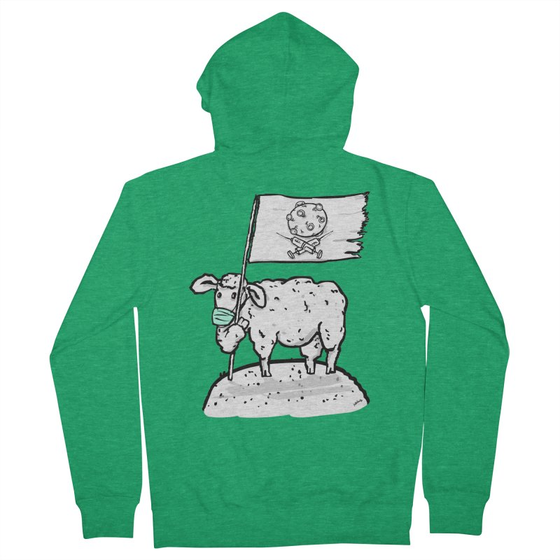 lamb on the hill Women's Zip-Up Hoody by mikbulp's Artist Shop