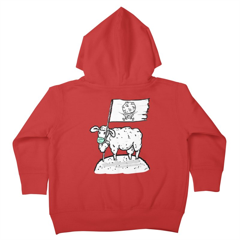 lamb on the hill Kids Toddler Zip-Up Hoody by mikbulp's Artist Shop