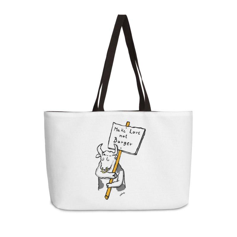 make love not burger Accessories Bag by mikbulp's Artist Shop