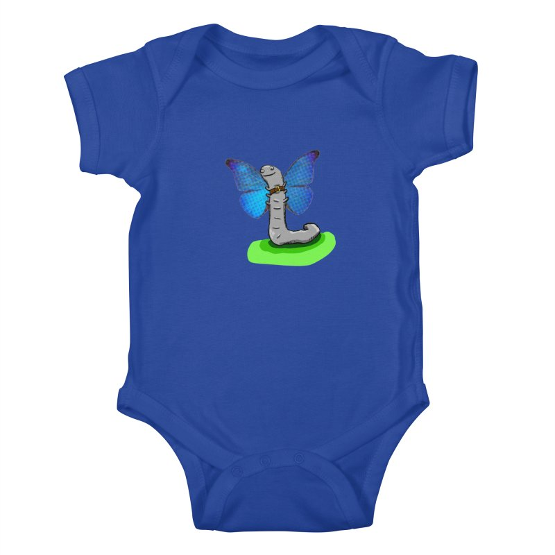 wormfly Kids Baby Bodysuit by mikbulp's Artist Shop
