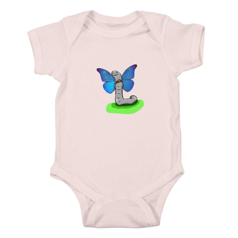 wormfly Kids Baby Bodysuit by mikbulp's Artist Shop