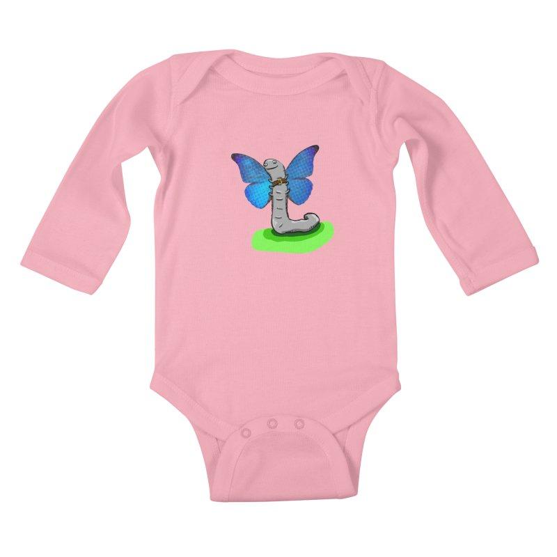 wormfly Kids Baby Longsleeve Bodysuit by mikbulp's Artist Shop