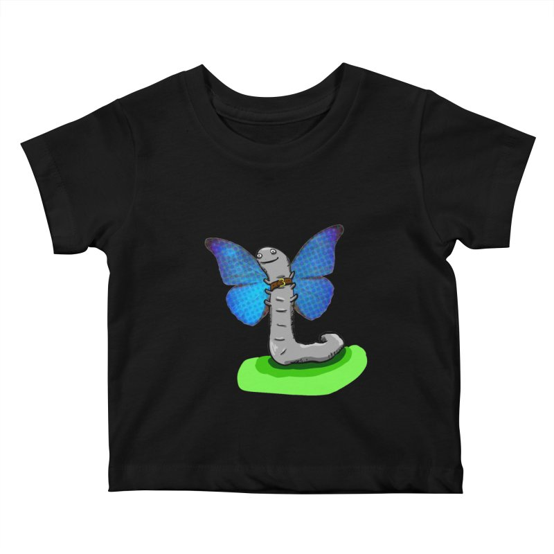 wormfly Kids Baby T-Shirt by mikbulp's Artist Shop