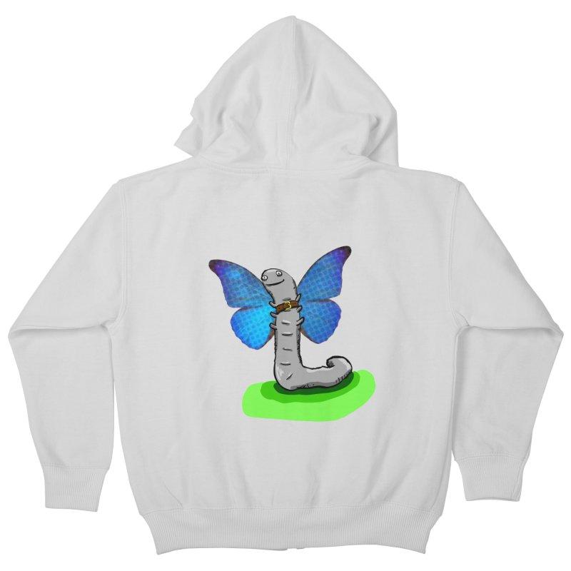 wormfly Kids Zip-Up Hoody by mikbulp's Artist Shop