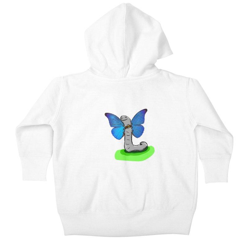 wormfly Kids Baby Zip-Up Hoody by mikbulp's Artist Shop