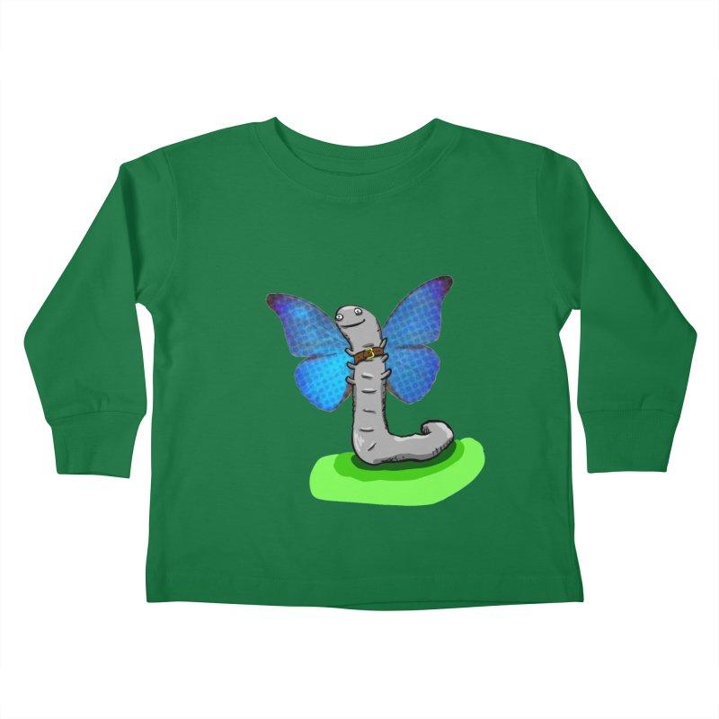 wormfly Kids Toddler Longsleeve T-Shirt by mikbulp's Artist Shop