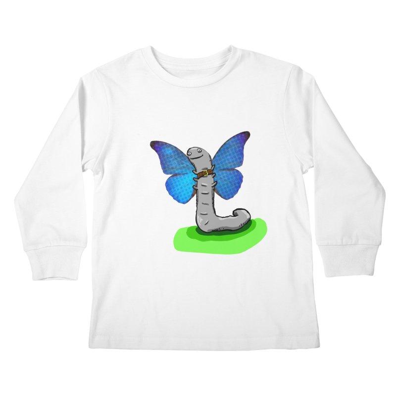 wormfly Kids Longsleeve T-Shirt by mikbulp's Artist Shop