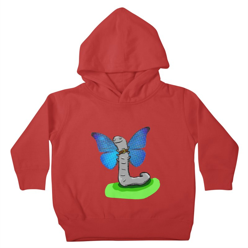 wormfly Kids Toddler Pullover Hoody by mikbulp's Artist Shop