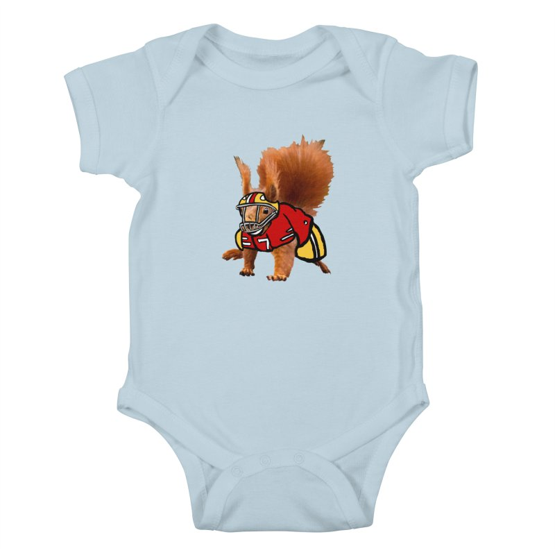 footballplayer Kids Baby Bodysuit by mikbulp's Artist Shop