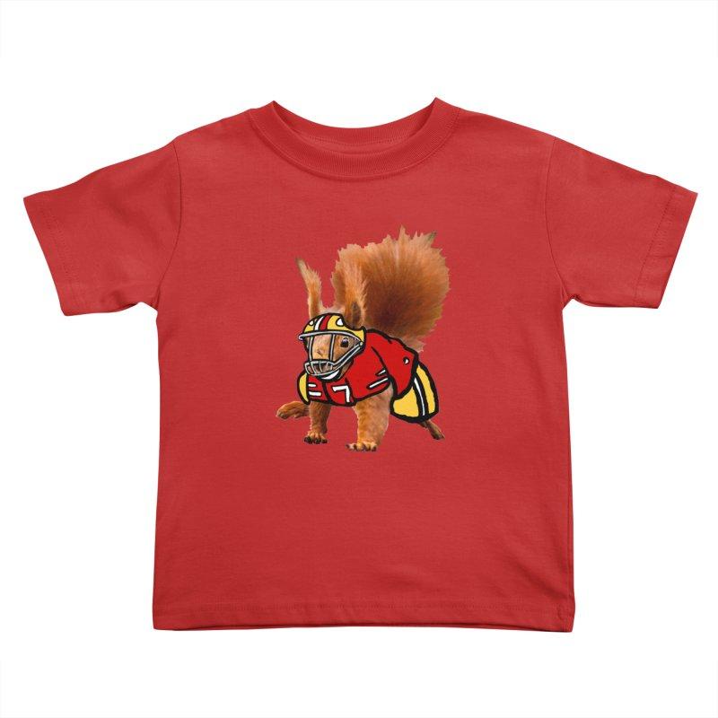 footballplayer Kids Toddler T-Shirt by mikbulp's Artist Shop