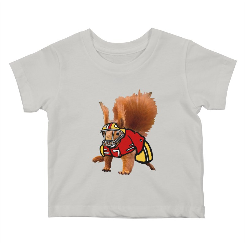 footballplayer Kids Baby T-Shirt by mikbulp's Artist Shop