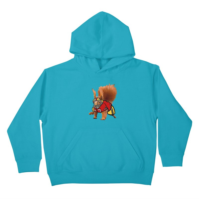 footballplayer Kids Pullover Hoody by mikbulp's Artist Shop