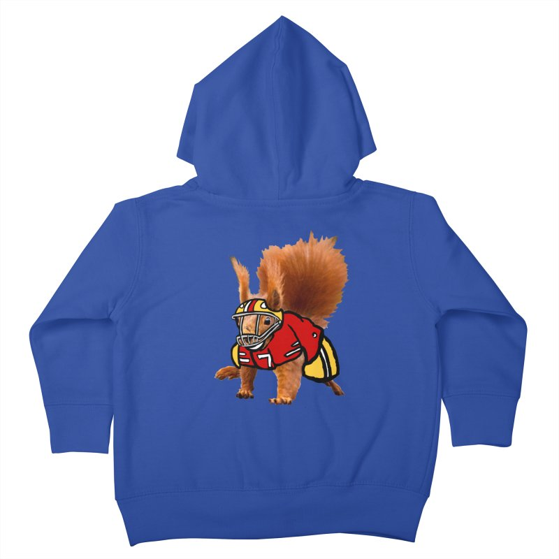 footballplayer Kids Toddler Zip-Up Hoody by mikbulp's Artist Shop