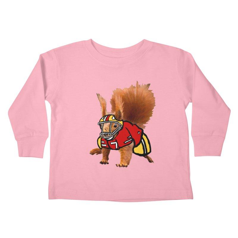 footballplayer Kids Toddler Longsleeve T-Shirt by mikbulp's Artist Shop