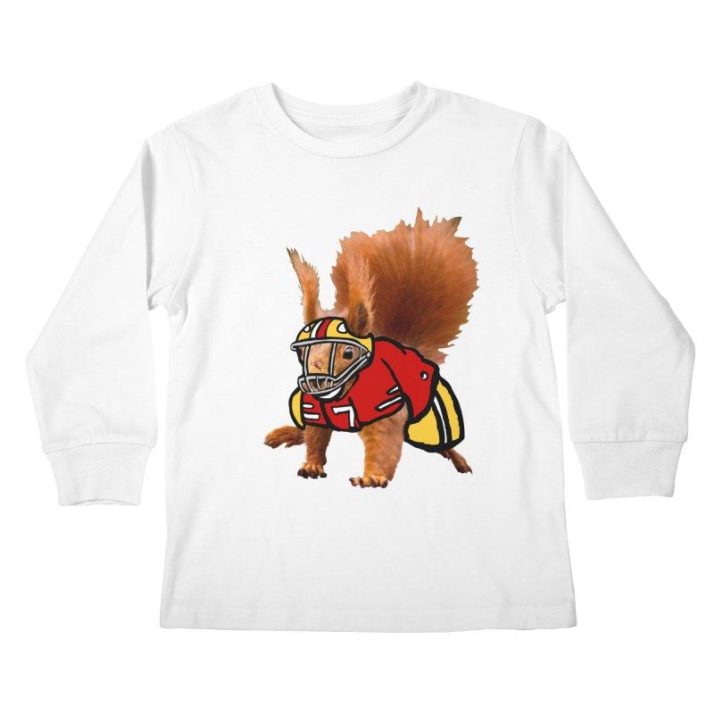 footballplayer Kids Longsleeve T-Shirt by mikbulp's Artist Shop