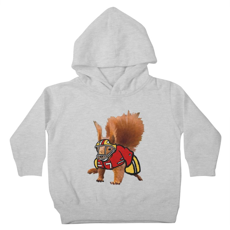 footballplayer Kids Toddler Pullover Hoody by mikbulp's Artist Shop
