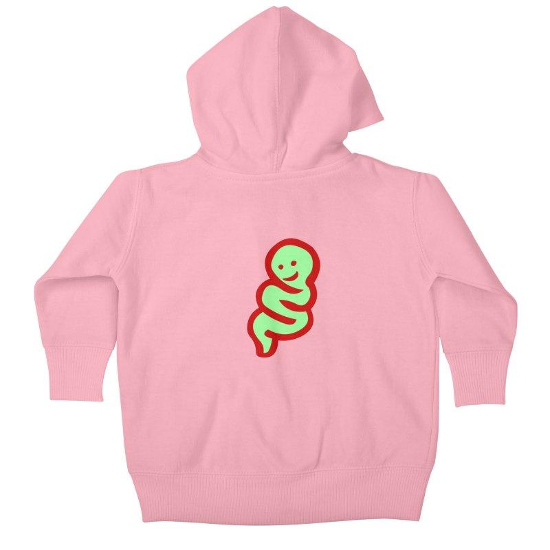 Happy worm Kids Baby Zip-Up Hoody by mikbulp's Artist Shop