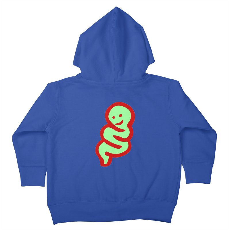 Happy worm Kids Toddler Zip-Up Hoody by mikbulp's Artist Shop
