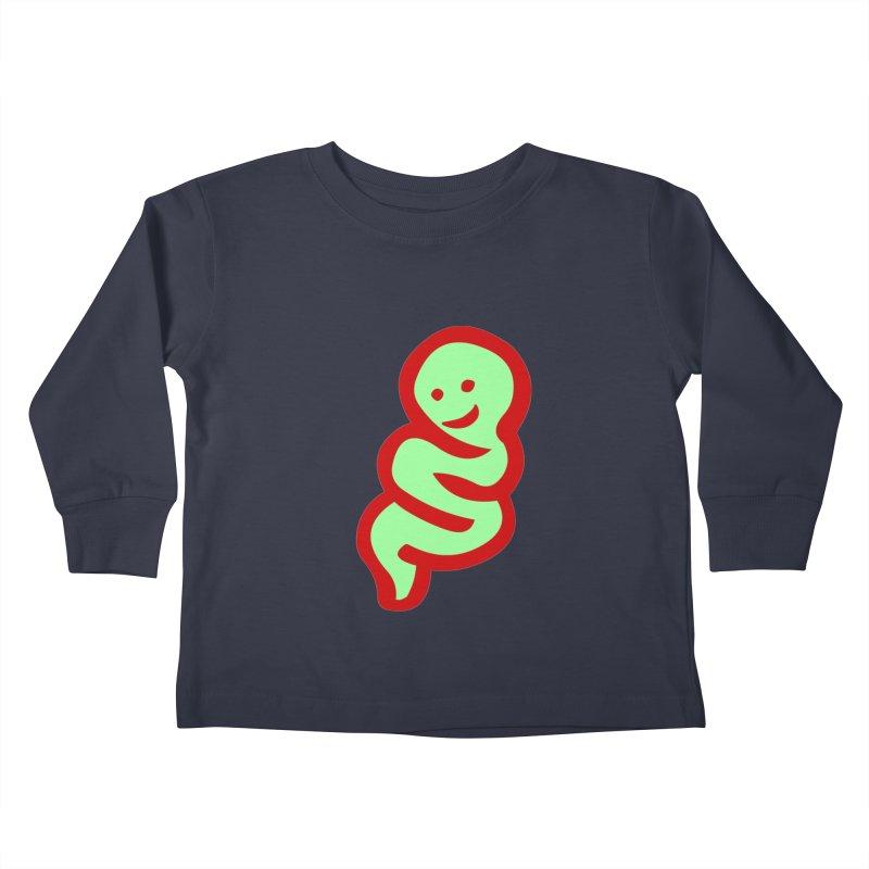 Happy worm Kids Toddler Longsleeve T-Shirt by mikbulp's Artist Shop