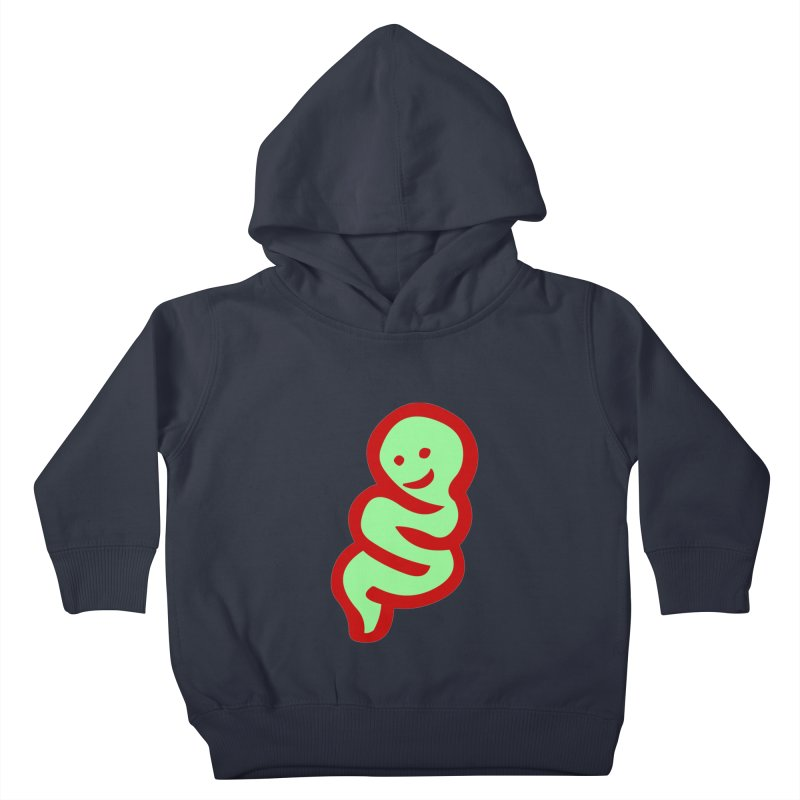 Happy worm Kids Toddler Pullover Hoody by mikbulp's Artist Shop