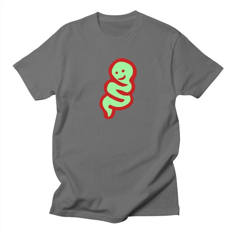 Happy worm Men's T-Shirt by mikbulp's Artist Shop