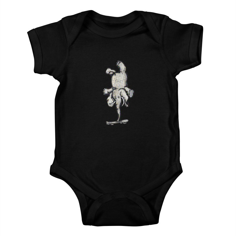 scating elefant Kids Baby Bodysuit by mikbulp's Artist Shop