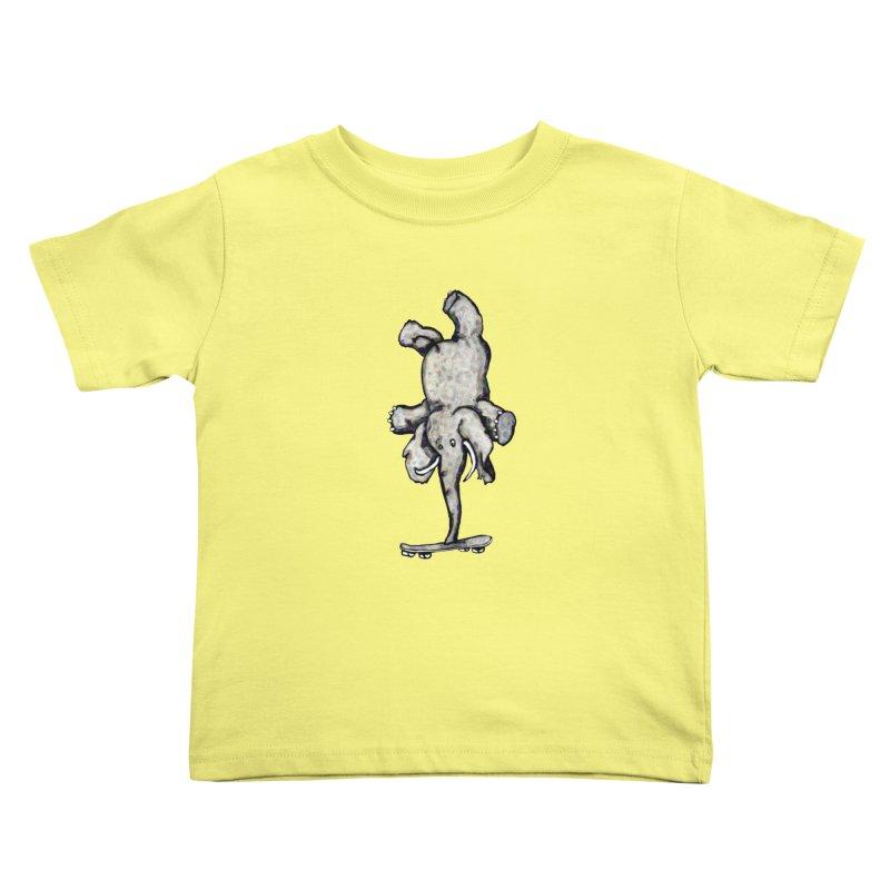 scating elefant Kids Toddler T-Shirt by mikbulp's Artist Shop