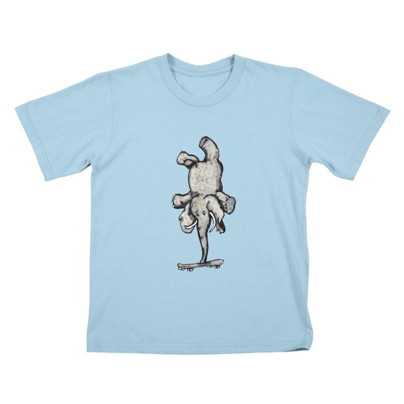 scating elefant Kids T-shirt by mikbulp's Artist Shop