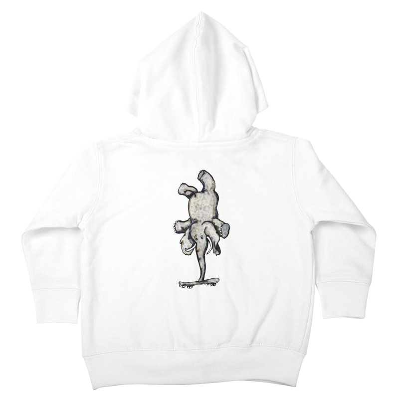 scating elefant Kids Toddler Zip-Up Hoody by mikbulp's Artist Shop