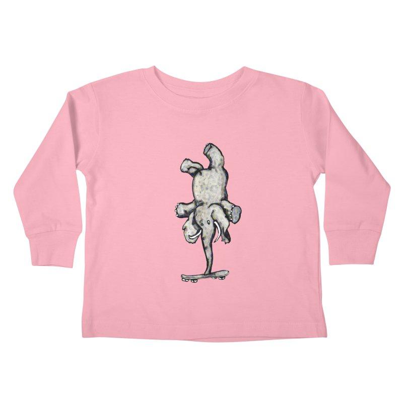 scating elefant Kids Toddler Longsleeve T-Shirt by mikbulp's Artist Shop