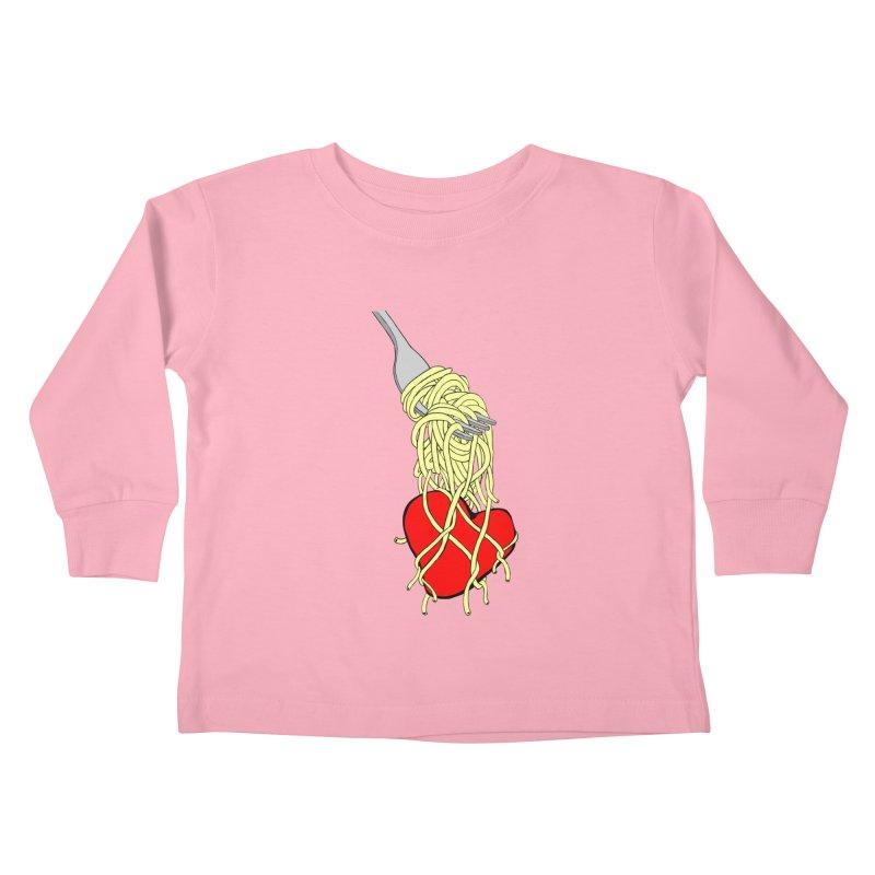 lovin forkful Kids Toddler Longsleeve T-Shirt by mikbulp's Artist Shop
