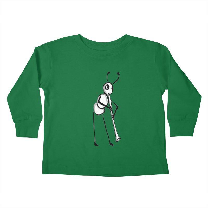 ant Kids Toddler Longsleeve T-Shirt by mikbulp's Artist Shop