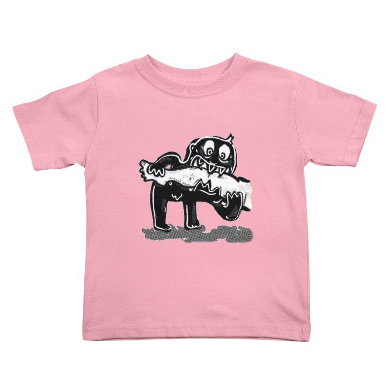 ankle biter Kids Toddler T-Shirt by mikbulp's Artist Shop