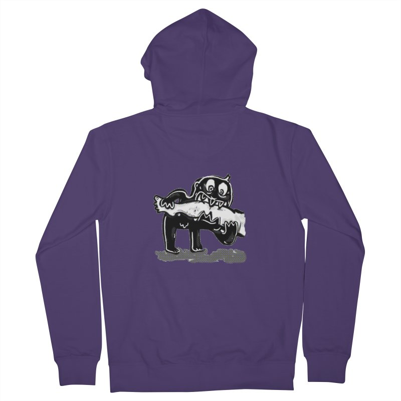 ankle biter Women's French Terry Zip-Up Hoody by mikbulp's Artist Shop