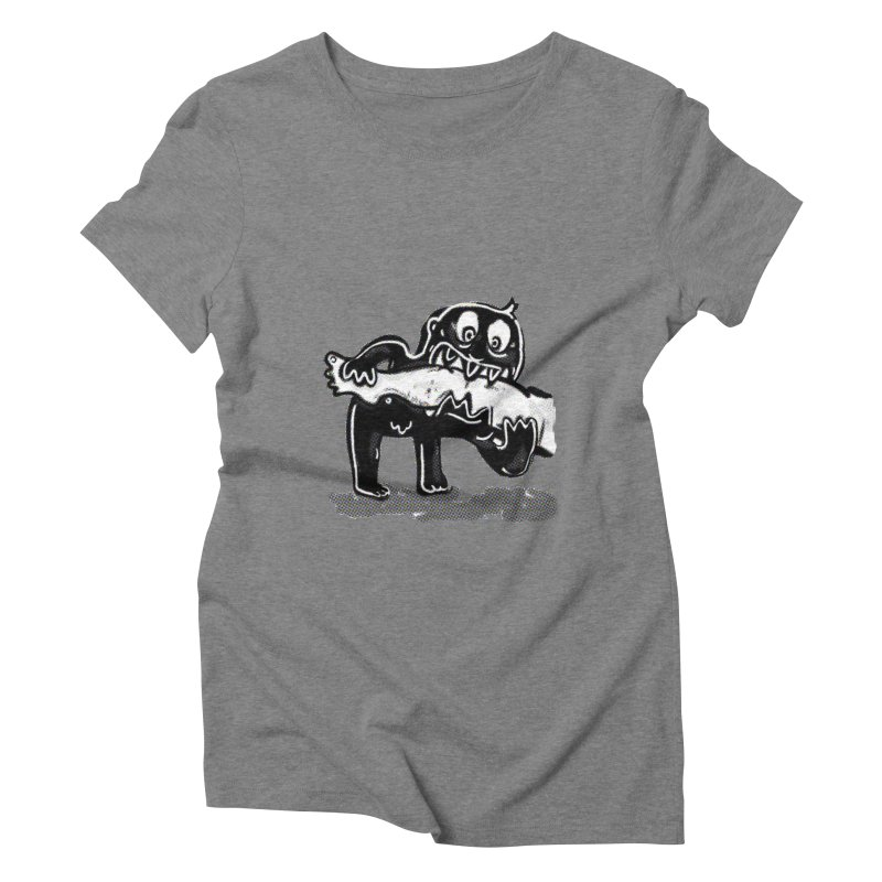ankle biter Women's Triblend T-Shirt by mikbulp's Artist Shop