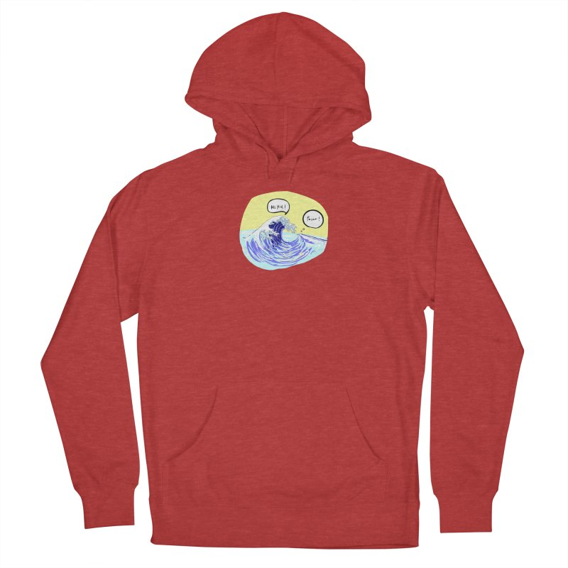 wave to wave 2 Men's French Terry Pullover Hoody by mikbulp's Artist Shop