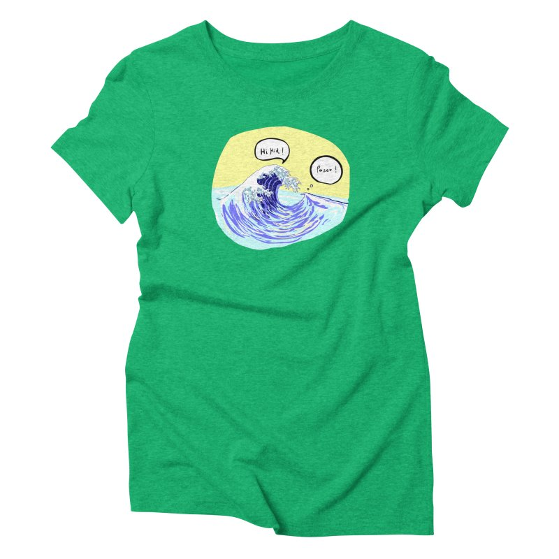 wave to wave 2 Women's Triblend T-Shirt by mikbulp's Artist Shop