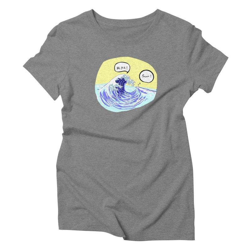 wave to wave 2 Women's Triblend T-Shirt by mikbulp's Artist Shop
