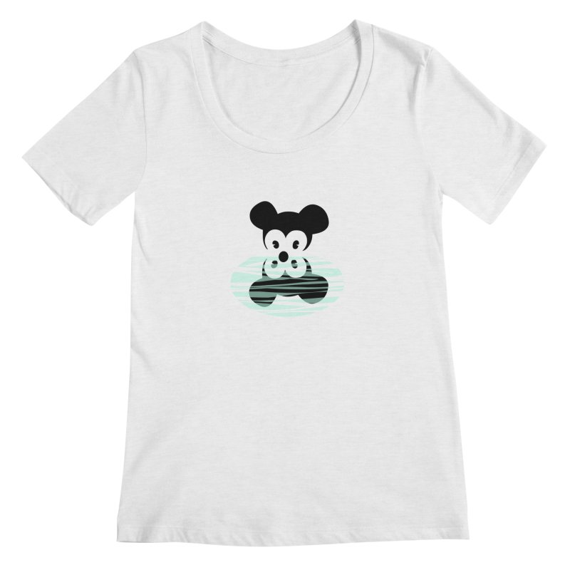narcissistic mouse Women's Regular Scoop Neck by mikbulp's Artist Shop
