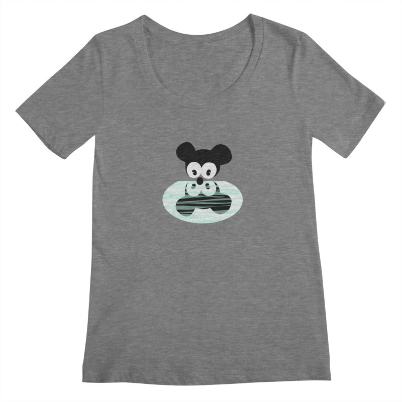 narcissistic mouse Women's Scoopneck by mikbulp's Artist Shop